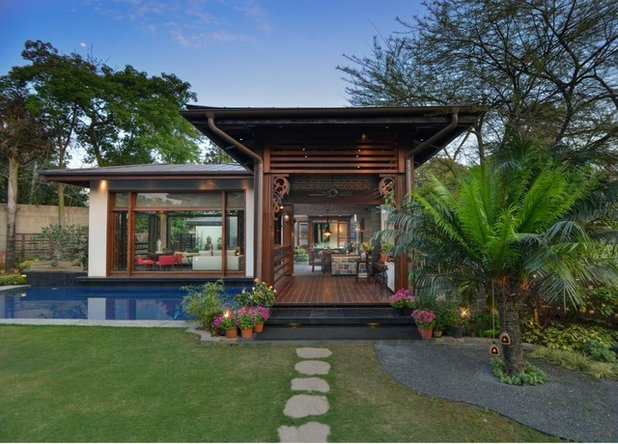 Contemporary Exterior by Monica Khanna Designs