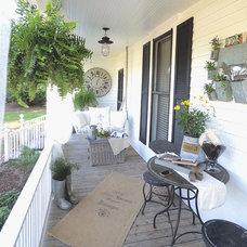 Farmhouse Exterior Farmhouse Back Porch and Garden