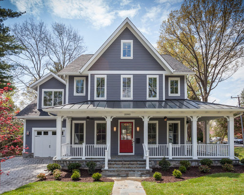 Farmhouse exterior home design ideas pictures remodel and decor for Can you use exterior paint inside a house