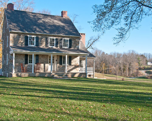 Stone farmhouse home design ideas pictures remodel and decor for 2 story farmhouse