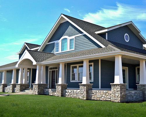 Farmhouse exterior design ideas remodels amp photos with concrete