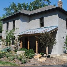 Farmhouse Exterior by JDA Design Architects Inc