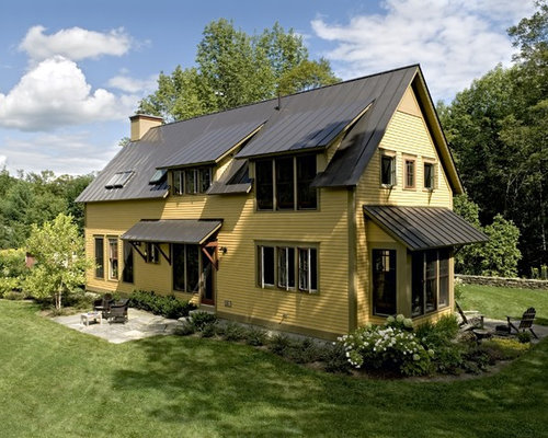 Bronze metal roof home design ideas pictures remodel and for Farmhouse metal roof