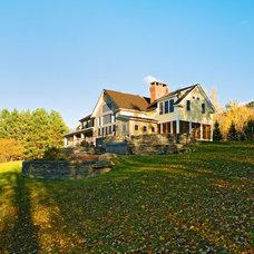 Farmhouse Exterior by Cushman Design Group