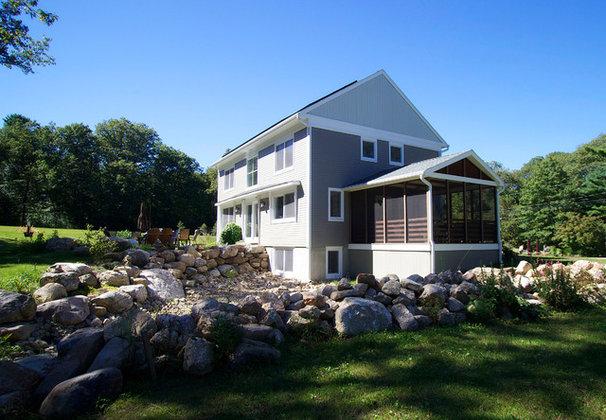 Farmhouse Exterior by Wolfworks Inc.