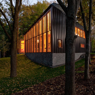 Inspiration for a contemporary metal exterior home remodel in Minneapolis