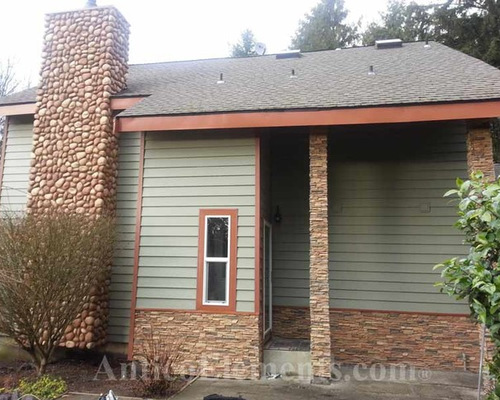 Faux stone panels exterior