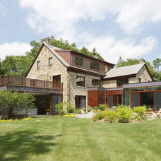 Transitional Exterior by Lucash Montgomery builders