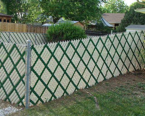 chain link fence ideas pictures remodel and decor. Black Bedroom Furniture Sets. Home Design Ideas