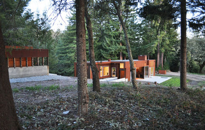 Houzz Tour: A Modern Getaway Nestled in the Trees