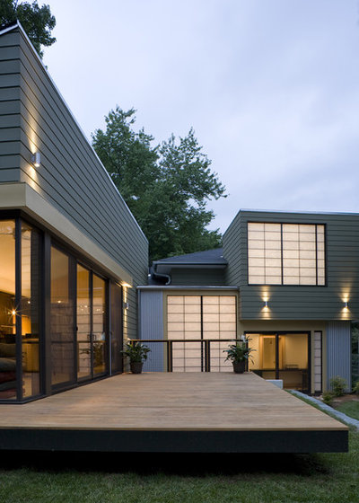 Transitional Exterior by Gardner Architects LLC