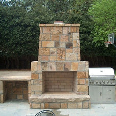Modern Exterior by ARNOLD Masonry and Landscape