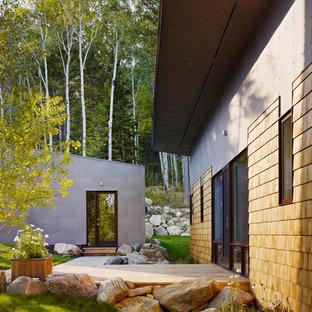Esempio della facciata di una casa piccola contemporanea