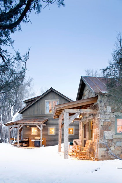 Rustic Exterior by Coburn Development
