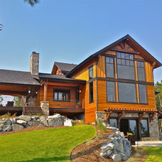 Traditional Exterior by Big Mountain Builders