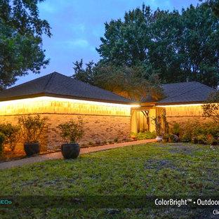 Contemporary exterior home idea in Dallas