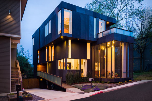 Houzz tour modern personality in an old atlanta neighborhood for Contemporary homes atlanta