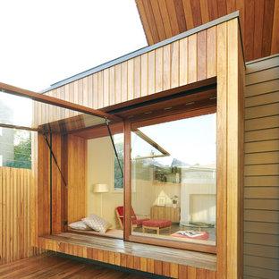 メルボルンのコンテンポラリースタイルのおしゃれな家の外観の写真