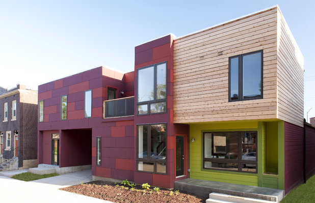 Pintura para fachadas colores naturales o atrevidos for Colores para afuera de la casa