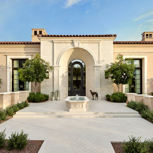 Inspiration for a mediterranean exterior home remodel in Phoenix