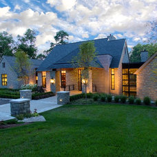 Transitional Exterior by kevin akey -azd architects - florida