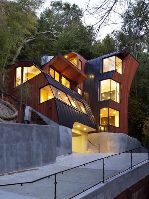 34 Samples Of Modern Houses Most Popular Exterior Design: Modern Roof