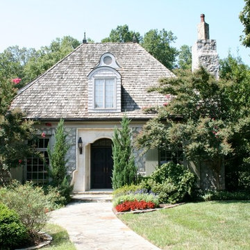 French Cottage with Limestone Entry