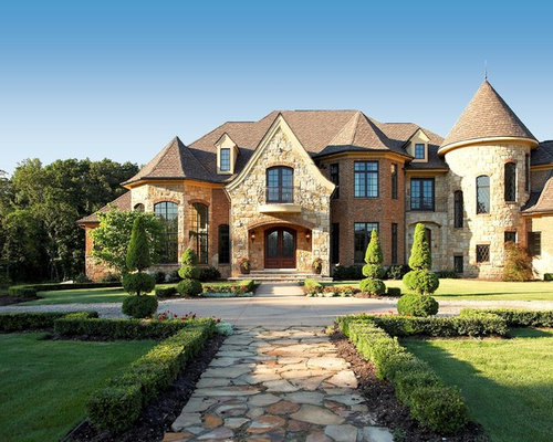 Stone and brick combinations home design ideas pictures - Stone brick exterior combinations ...