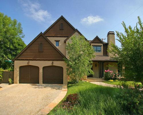 elegant brown exterior home photo in los angeles
