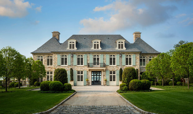 French Country Exterior by HOBBS INC