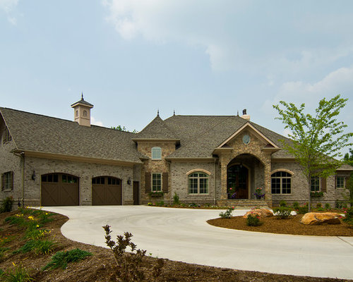 Single story exterior home design ideas pictures remodel for French country exterior design