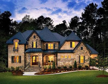 French Country Villa Stone House - Coronado Stone Veneer