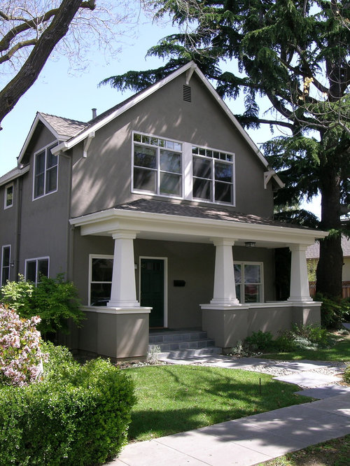 Stucco Design Ideas traditional two story exterior in houston This Is An Example Of A Craftsman Two Story Exterior In San Francisco