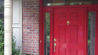 Front door and column