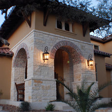 Mediterranean Exterior by Campbell Brown Construction