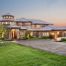 Mediterranean Exterior by Sterling Custom Homes