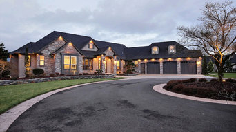 Front Elevation - The Party Palace - Custom Ranch on Acreage