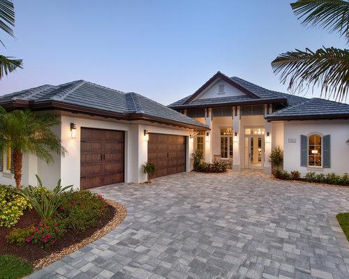 Tropical Grey Exterior Design Ideas Renovations Photos