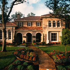 Mediterranean Exterior by Sims Luxury Builders