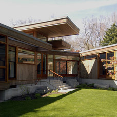 Contemporary Exterior by S+H Construction