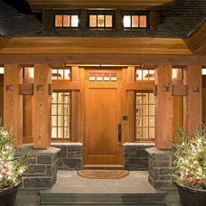 Traditional Exterior by Charlie & Co. Design, Ltd