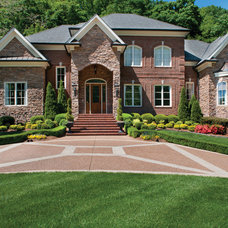 Contemporary Exterior by Frawood Custom Builders