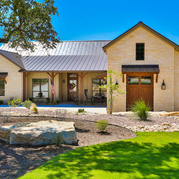 Front Exterior - Hill Country Stone Ranch Home