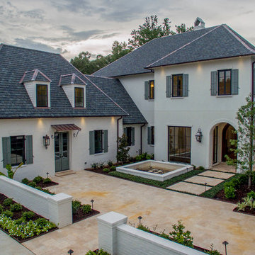 Front Exterior of this Elegant South Baton Rouge Home