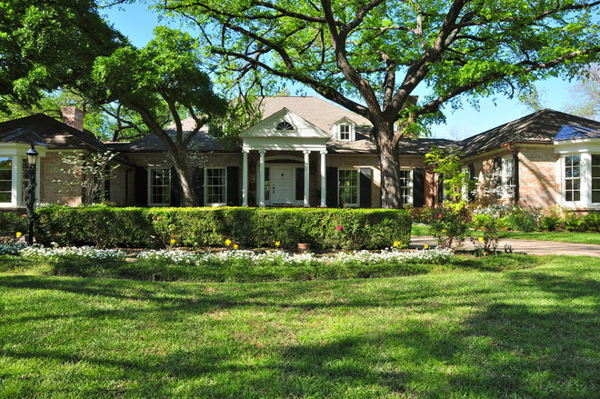 Traditional Exterior by Valerie McCaskill Dickman