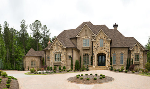 French Country Brick And Stone Houzz