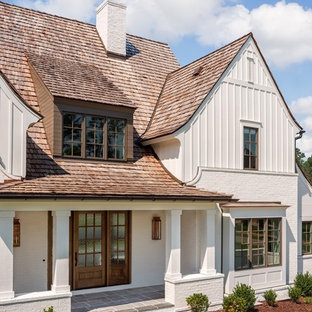 Inspiration for a country exterior home remodel in Charlotte