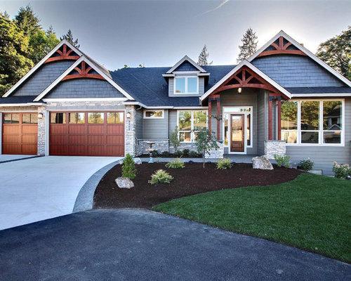 foto e idee per facciate di case facciata di una casa ForModerni Piani Di Case Ranch Sollevate