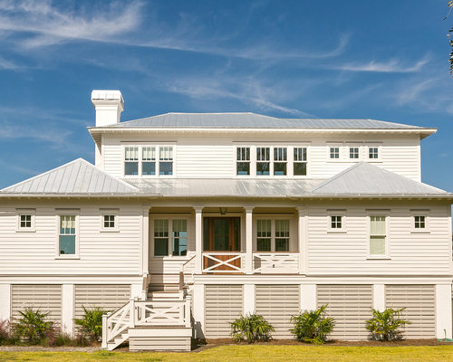 Charleston exterior design ideas renovations photos for Beach house plans with hip roof