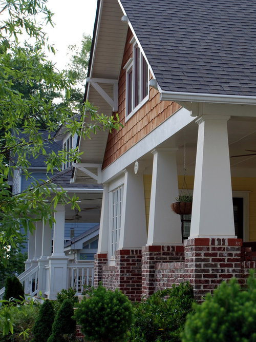 Brick knee wall home design ideas pictures remodel and decor for Craftsman style homes in atlanta